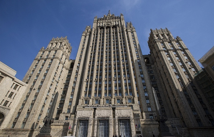 Russian Foreign Ministry building in Moscow