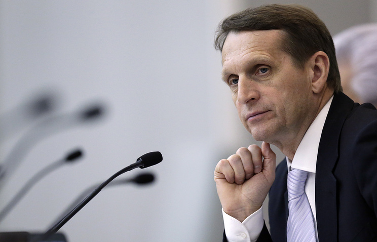 Speaker of the lower house of the Russian parliament, the State Duma, Sergey Naryshkin