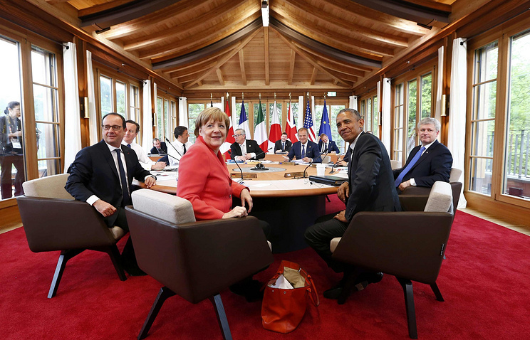 G7 leaders at Elmau Castle hotel in Elmau near Garmisch-Partenkirchen, Germany