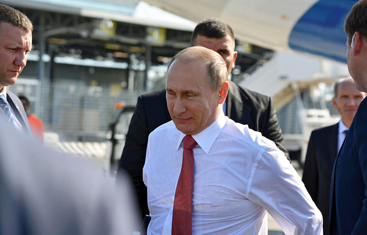 Russian President Vladimir Putin in Italy, June 10