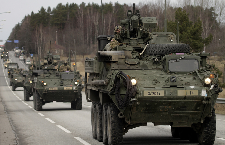 US military vehicles in Poland (archive)