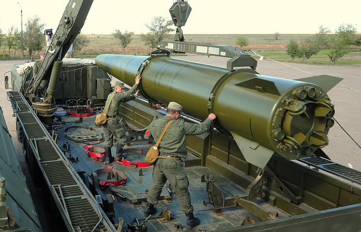 Iskander missile seen during military drills in May 2015