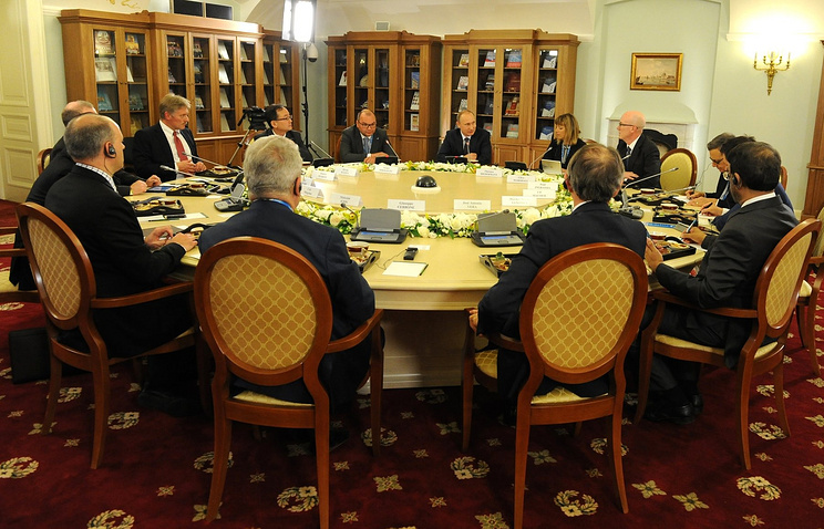 The Russian leader's meeting with heads of leading international news agencies