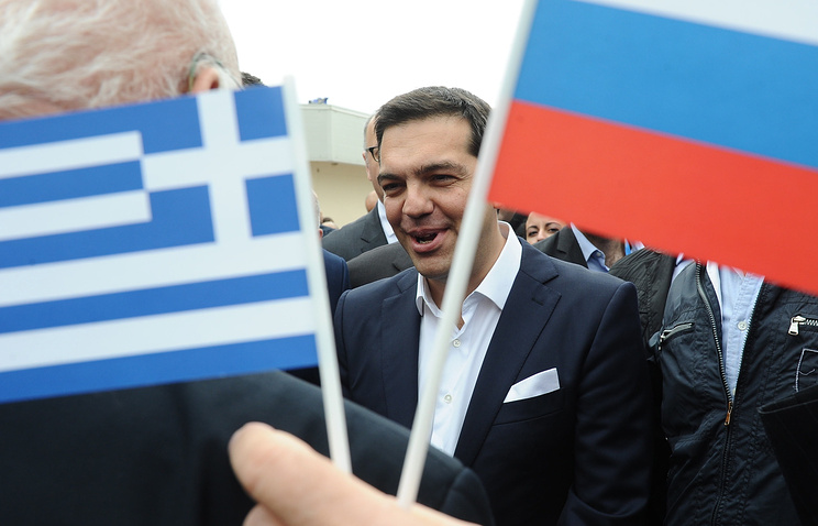 Greek Prime Minister Alexis Tsipras during his visit to St. Petersburg