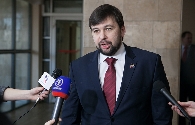 Envoy of the Donetsk republic to the Contact Group, Denis Pushilin
