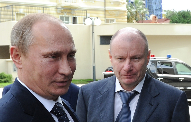 Russian President Vladimir Putin and CEO of Norilsk Nickel Vladimir Potanin