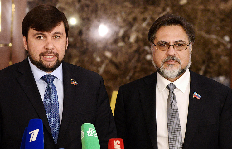DPR and LPR envoys to the Contact Group on Ukrainian settlement Denis Pushilin and Vladislav Deinego