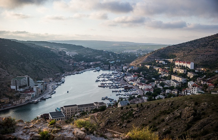 View over Balaklava, Crimea