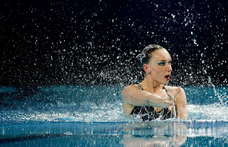 Russian synchronized swimmer Natalya Ischenko