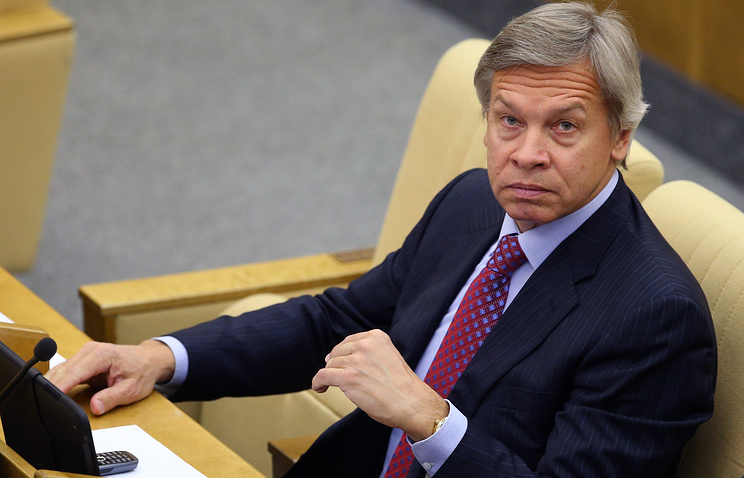 Chairman of Russia's lower house's international affairs committee Alexey Pushkov
