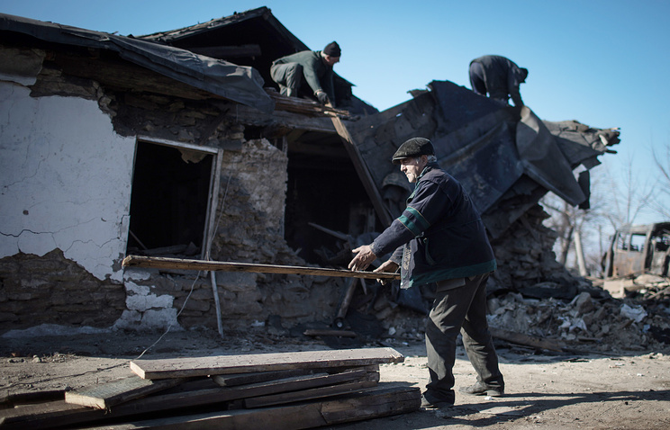 Aftermath of shelling in the self-proclaimed Luhansk People's Republic (archive)