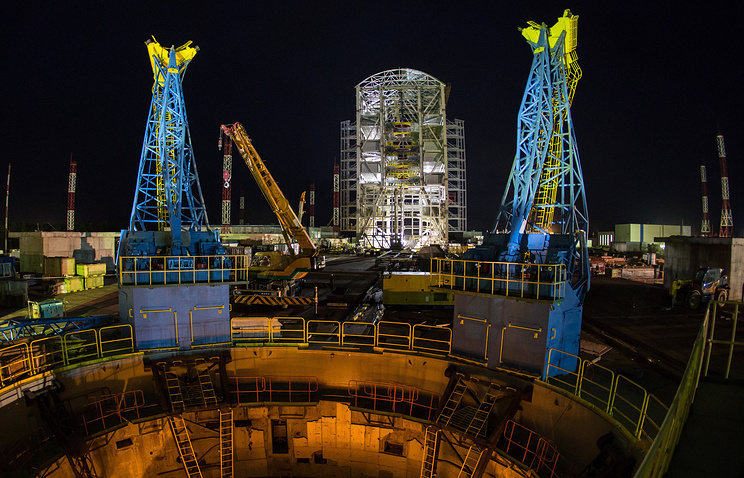A view of the fire circle at the Vostochny Cosmodrome