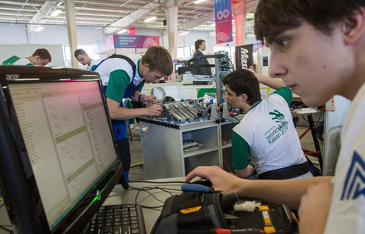 At national WorldSkills championship in Kazan