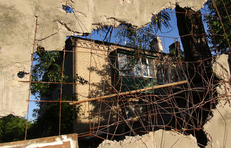 Destructions in Gorlovka