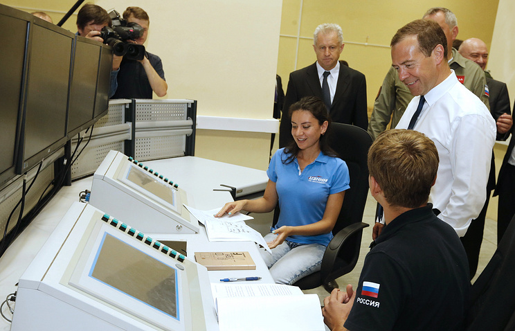 Dmitry Medvedev at the Vostochny cosmodrome