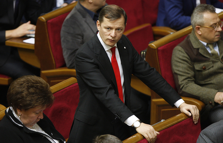 The leader of the Radical Party Oleg Lyashko