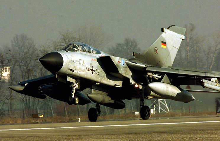 A German Tornado fighter jet