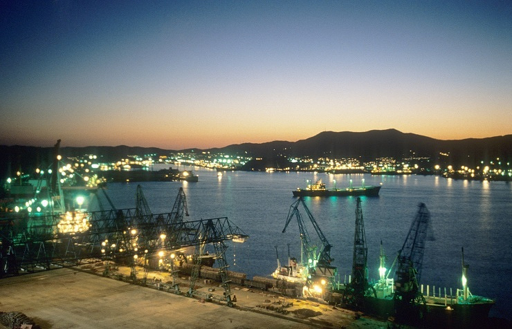Russia's Far Eastern sea port of Nakhodka