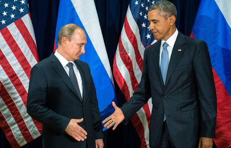 Russian and US Presidents, Vladimir Putin and Barack Obama (archive)
