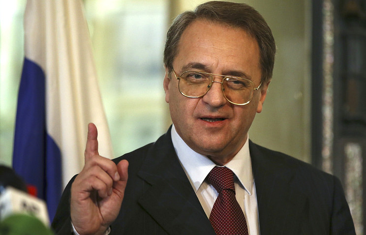 Russia's deputy Foreign Minister Mikhail Bogdanov.
