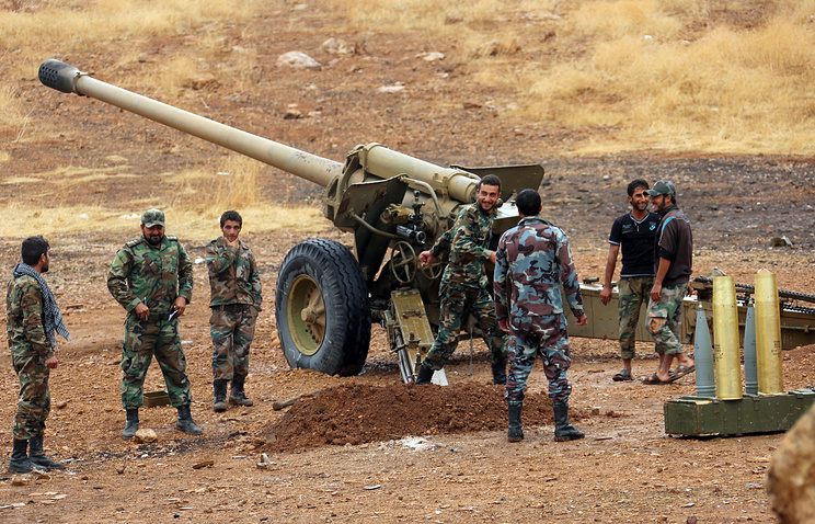 Syrian government army soldiers