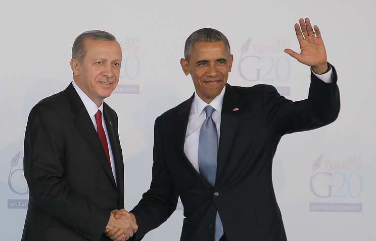 The Turkish and US presidents, Recep Tayyip Erdogan and Barack Obama