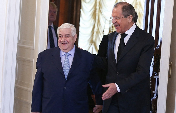 Foreign Ministers of Russia and Syria — Sergey Lavrov (right) and Walid Muallem (left)