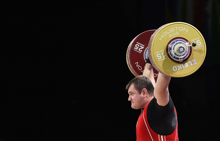Russian weightlifter Alexey Lovchev