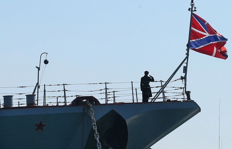 A Russian warship (archive)
