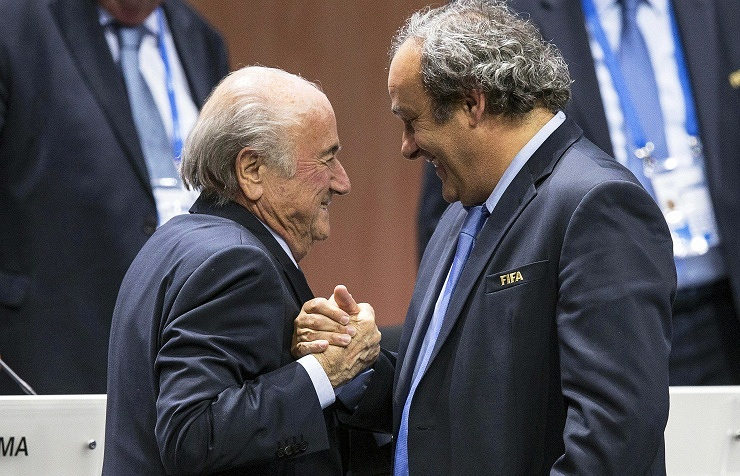 Sepp Blatter and Michel Platini