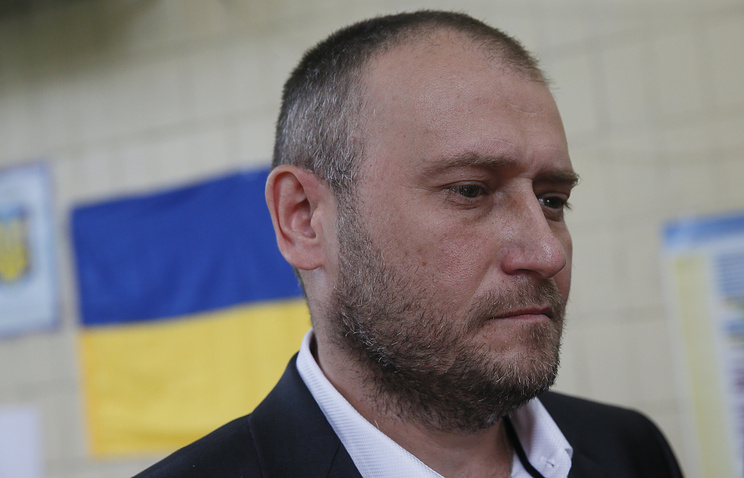 Former leader of Ukraine's extremist Right Sector group, outlawed in Russia, Dmytro Yarosh