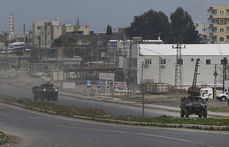 Turkish forces' armoured vehicles