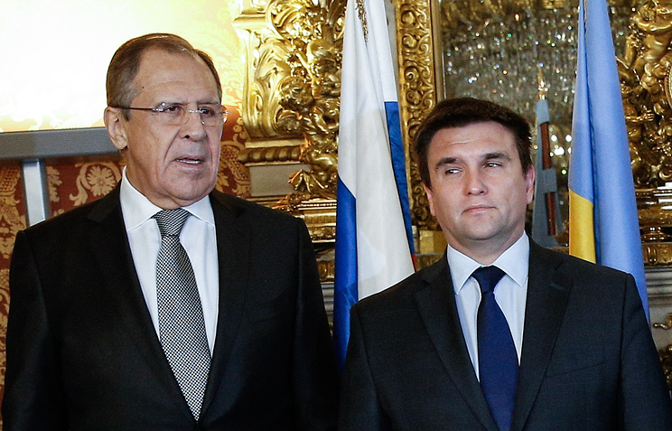 Sergey Lavrov and Pavlo Klimkin (archive)