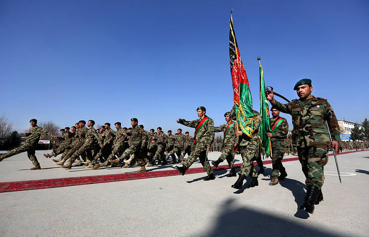 Members of the Afghan National Army