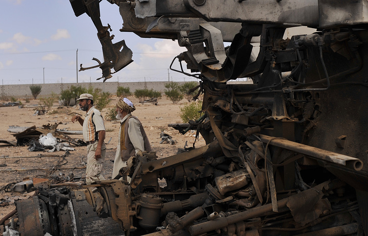 Scud missile luncher, destroyed by NATO near Sirte, Libya