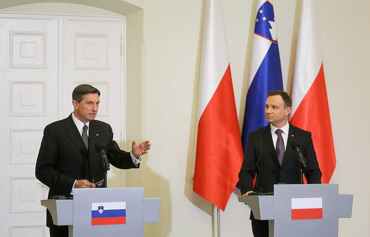 Slovenian and Polish presidents Borut Pahor and Andrzej Duda
