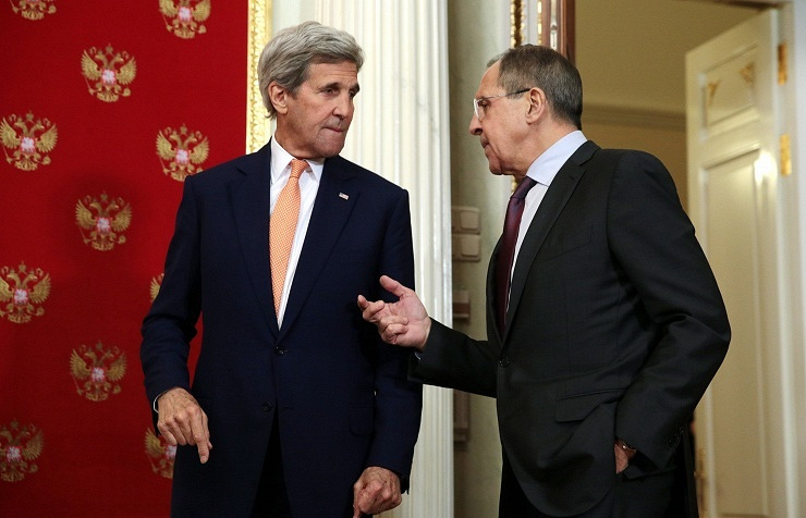 U.S. Secretary of State John Kerry and Russian Foreign Minister Sergei Lavrov