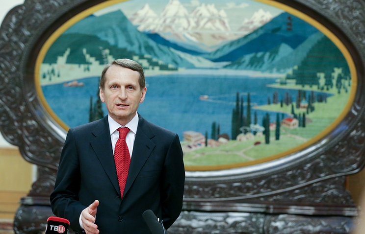 Russian lower house Speaker Sergey Naryshkin
