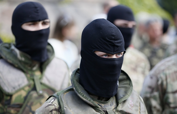 Volunteers of Ukraine's Azov battalion