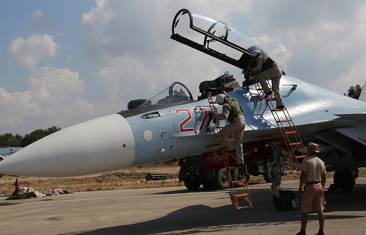 Russian miltiary servicemen in Syria (archive)