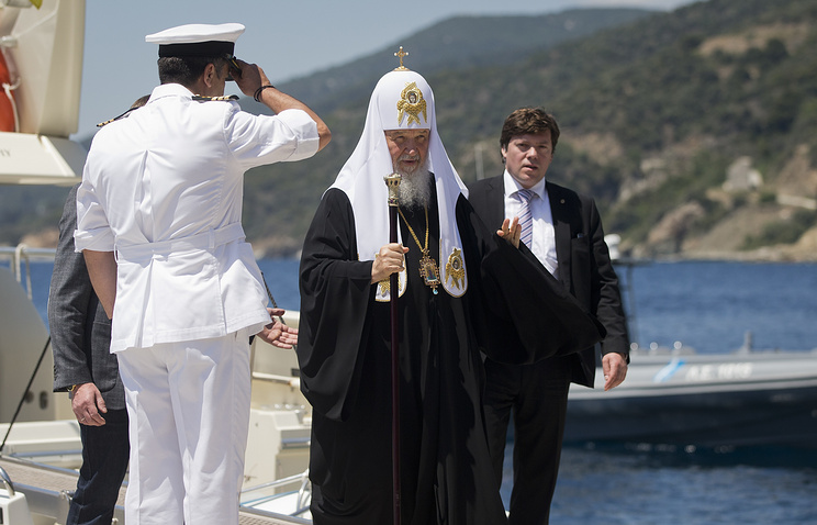 Patriarch Kirill greeted at the port of Daphne