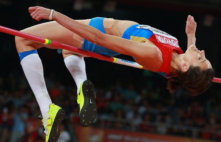 Russia's 2012 Olympic Champion in high jump Anna Chicherova
