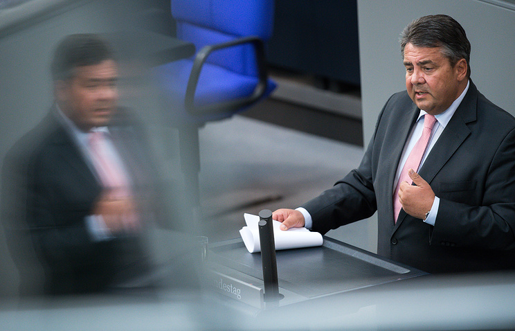 Germany's Vice-Chancellor Sigmar Gabriel