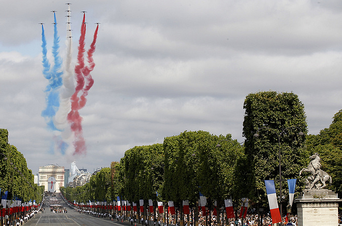 Military parade in Paris on Bastille Day