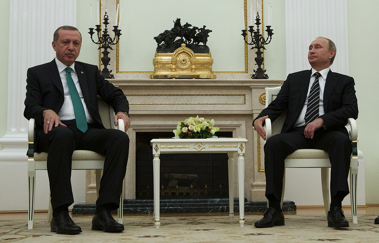 Russian President Vladimir Putin and Turkish President Recep Tayyip Erdogan in Moscow, on September 23, 2015