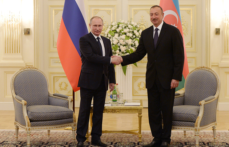 Russian and Azerbaijani Presidents, Vladimir Putin and Ilham Aliyev