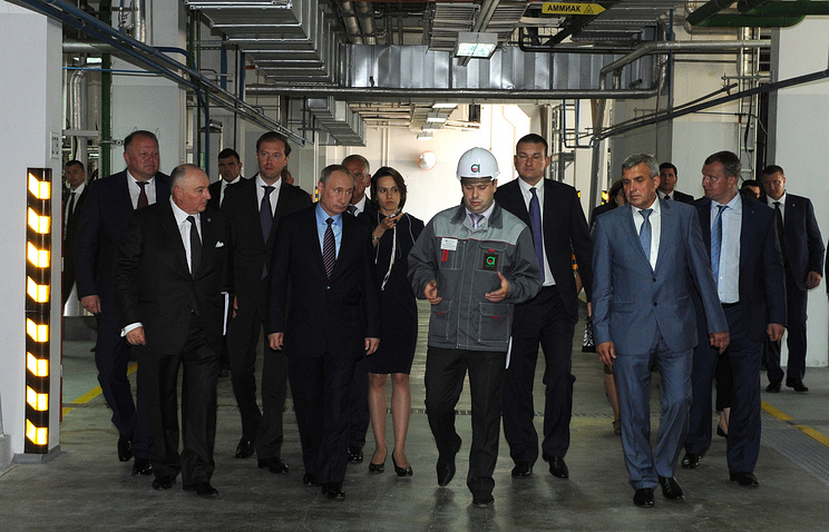 Vladimir Putin in Velikiy Novgorod on July 29