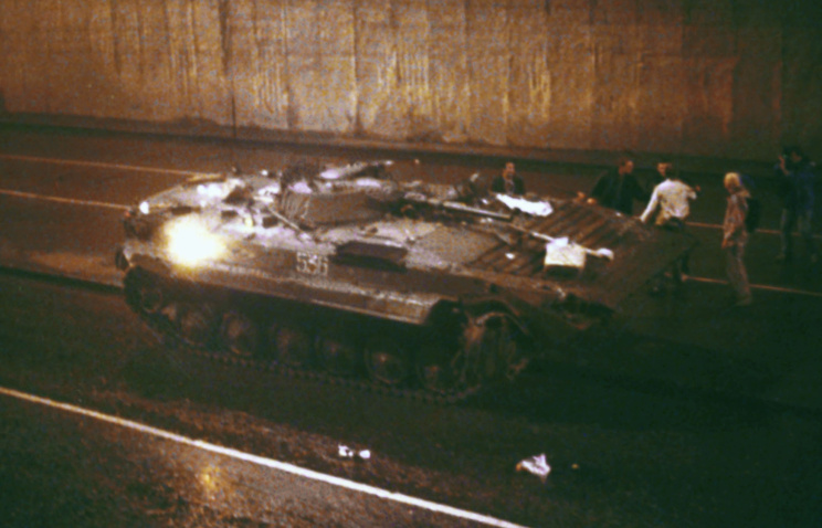 Tragic events in Moscow in August 1991 (archive)