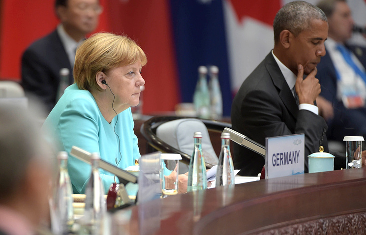 German Chancellor Angela Merkel  and US President Barack Obama