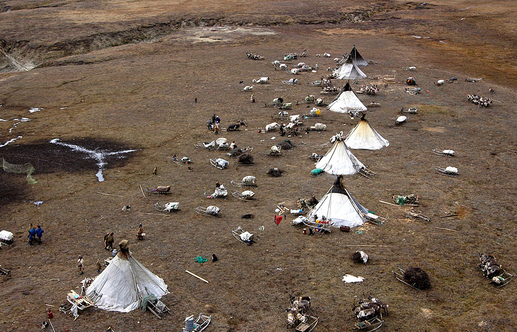 A nomad village in Russia's Yamal Peninsula